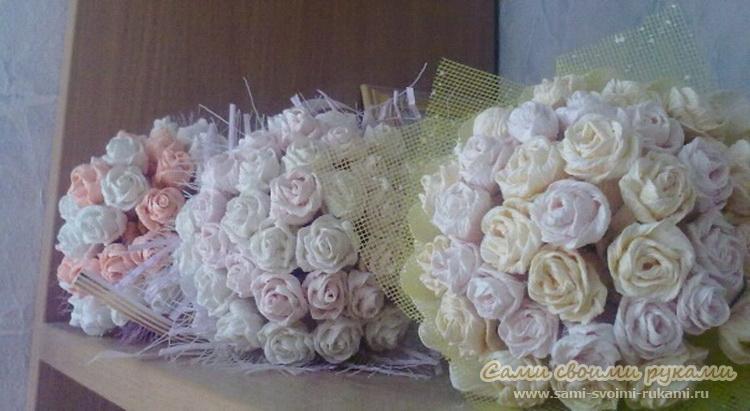 Букеты из гофрированной бумаги своими руками розы