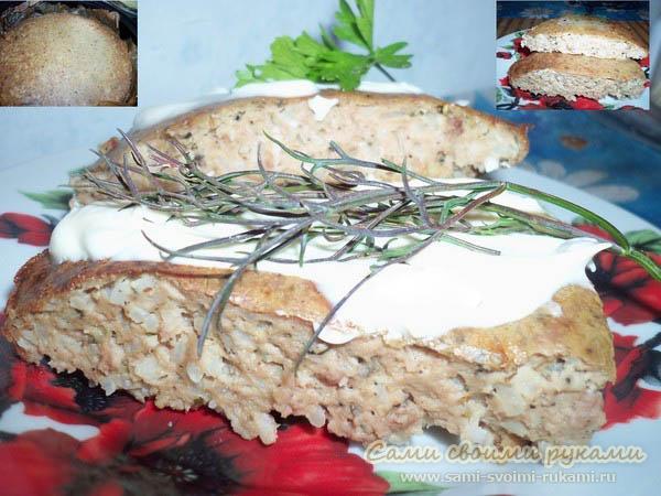 Запеканка из печени с рисом - рецепт, фото