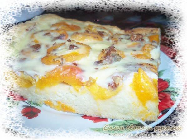 Абрикосовый пирог с заливкой - рецепт (фото)