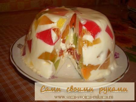 сметанный торт желе рецепт с фото