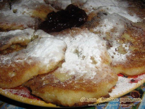 Фруктовые яблочно-грушевые оладьи - рецепт (фото)