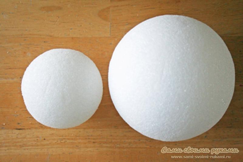 Как сделать пенопластовый шар