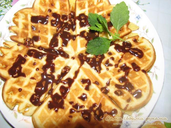Мягкие вафли - рецепт для электровафельницы (фото)