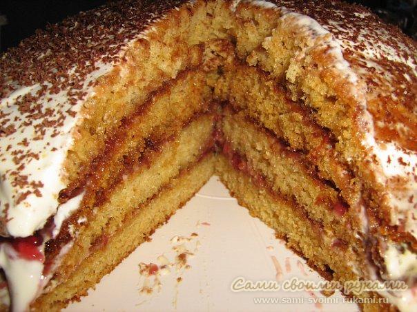 Медовый торт — быстрый рецепт (фото)