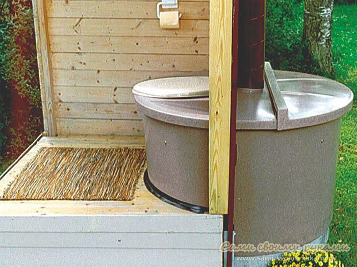 Строим туалет на даче фото