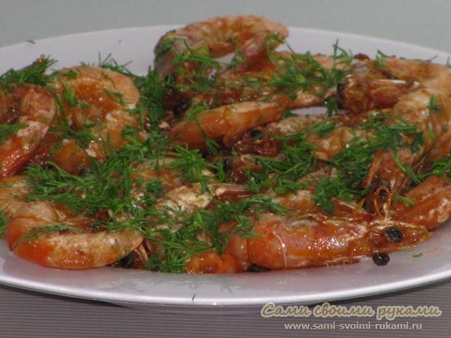 Креветки жареные - рецепт с фото