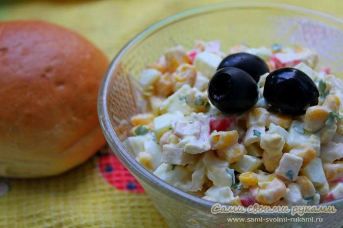 рецепт крабового салата классический без риса с капустой