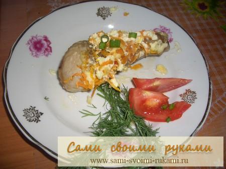 Курица в СВЧ с морковкой