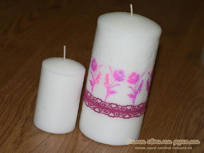 Декорирование свечей своими руками на подарок
