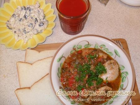 Чахохбили из курицы по грузински - классический рецепт с фото