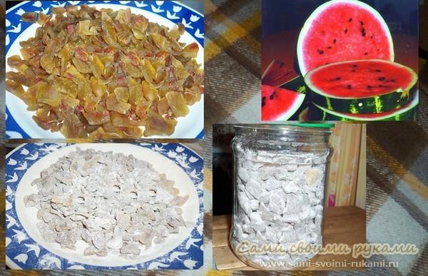 Цукаты из арбузных корочек - рецепт с фото