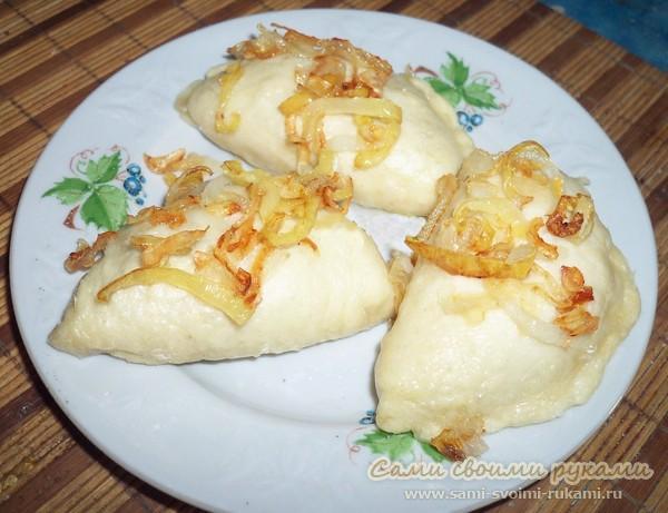 Вареники на пару с рисом и картошкой