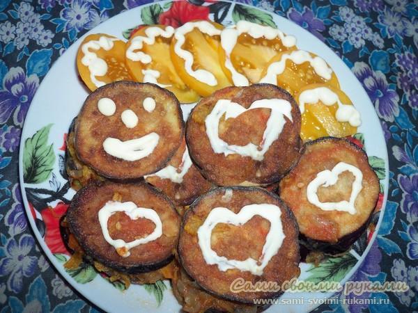 Баклажаны в томатном соусе - рецепт с фото