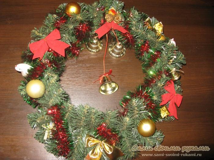 Рождественский венок - как сделать, фото, мастер класс