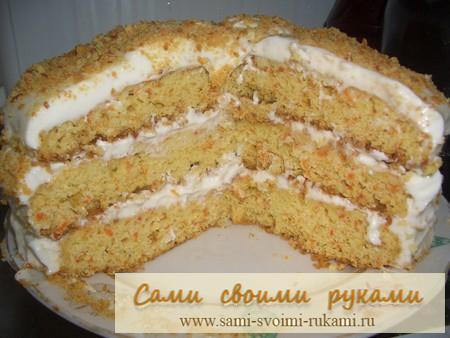 Торт Морковный - рецепт