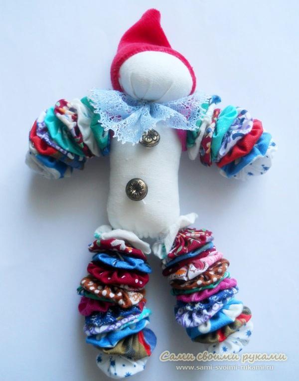 Клоун из ткани своими руками