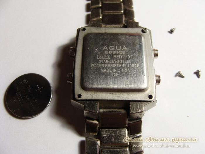 Замена батарейки в часах casio своими руками фото 917