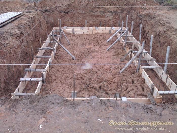Фундамент для дома - как построить фундамент под дом, фото, описание