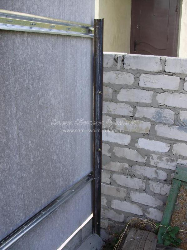 Забор из шифера своими руками фото 795