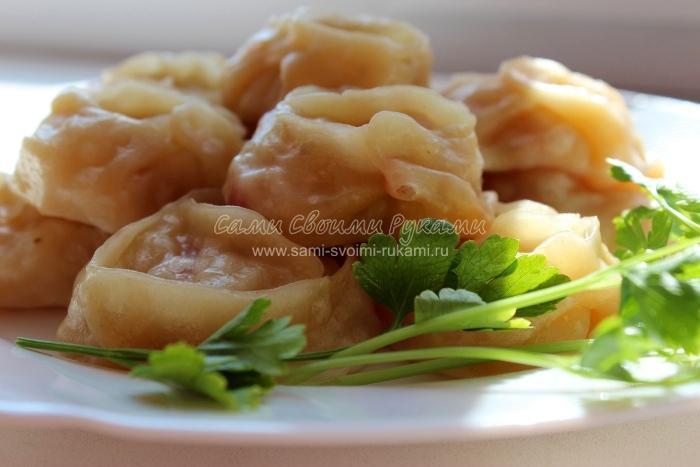 Манты с грибами рецепт с фото