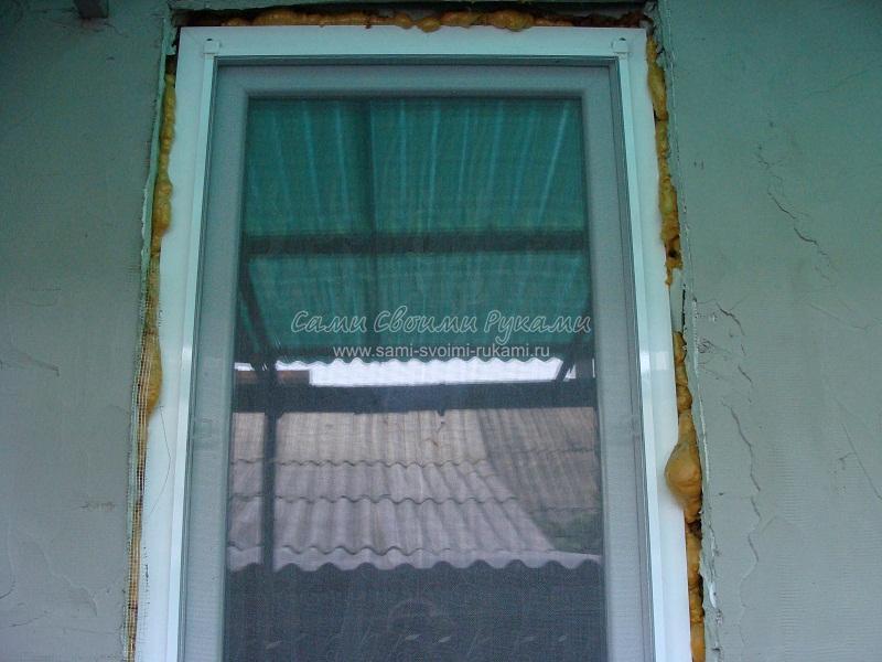 Установка откосов на пластиковом окне своими руками
