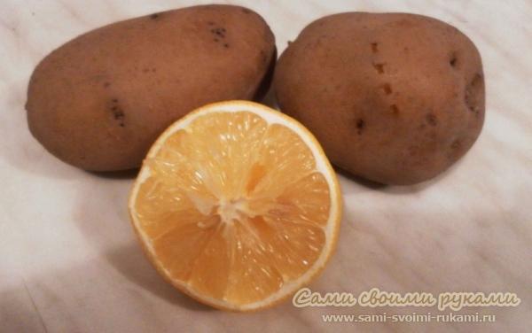 Картофельно - лимонная маска для рук