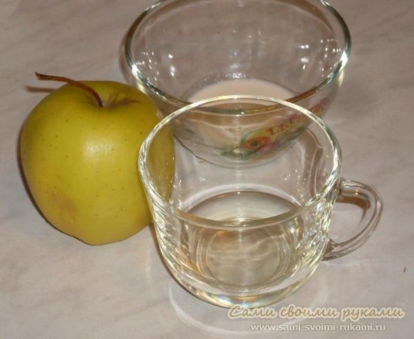 Омолаживающая маска для кожи лица и шеи из яблока