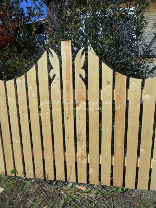 Древесный забор своими руками - мастер класс с фото Сами своими руками Своими руками