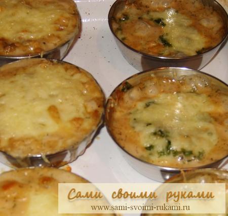 Жюльен — грибной и с морепродуктами — рецепты
