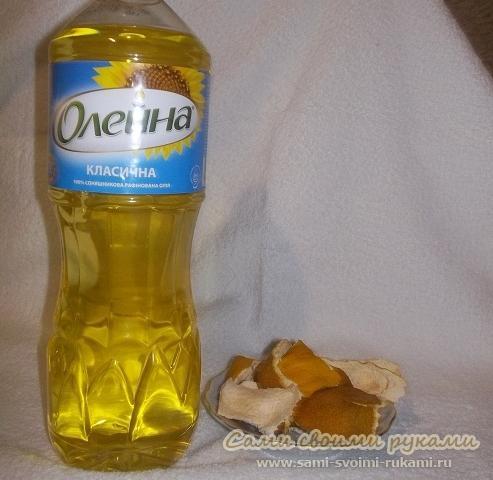 Скраб для пяток: растительное масло и апельсиновые корки