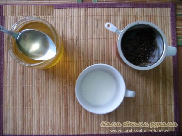 Медовая маска для лица с чаем и молоком