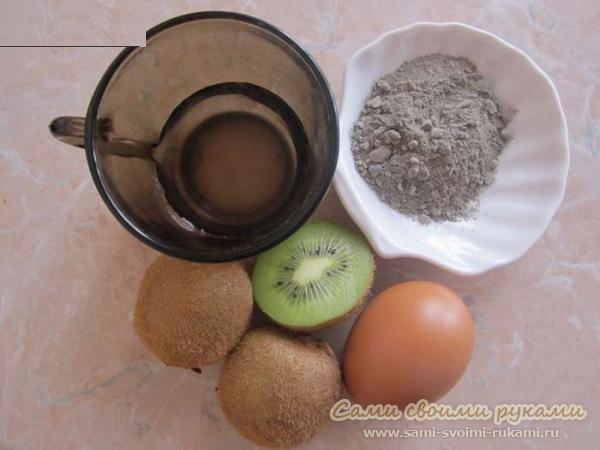 Маска из киви для комбинированной кожи