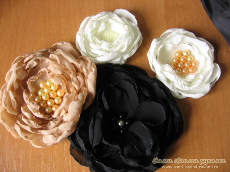Цветы для резинки своими руками