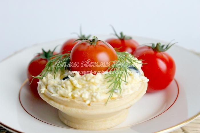 плавленным сыром с фото тарталетки