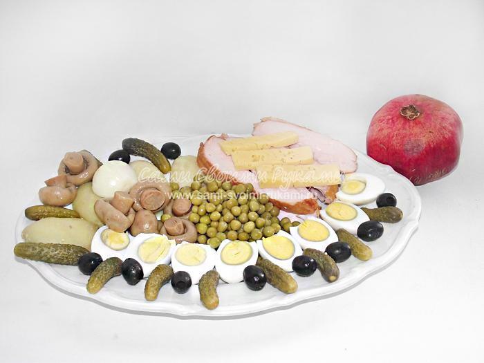рецепт грудка с грибами салат рецепт