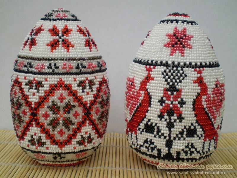 Мастер-класс: как сделать пасхальные яйца из бисера Lady-Zaza.