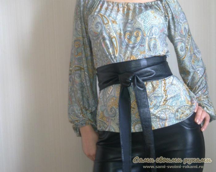 Как сшить блузу к кожанным штанам - выкройка блузы