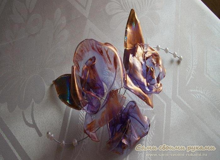 Цветы из DVD дисков