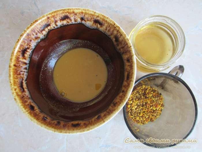 Маска из цветочной пыльцы для омоложения кожи