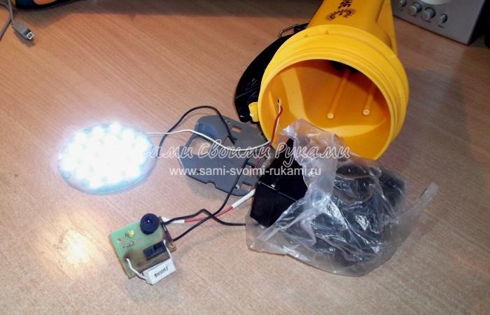 Светодиодные фонари на аккумуляторах ремонт