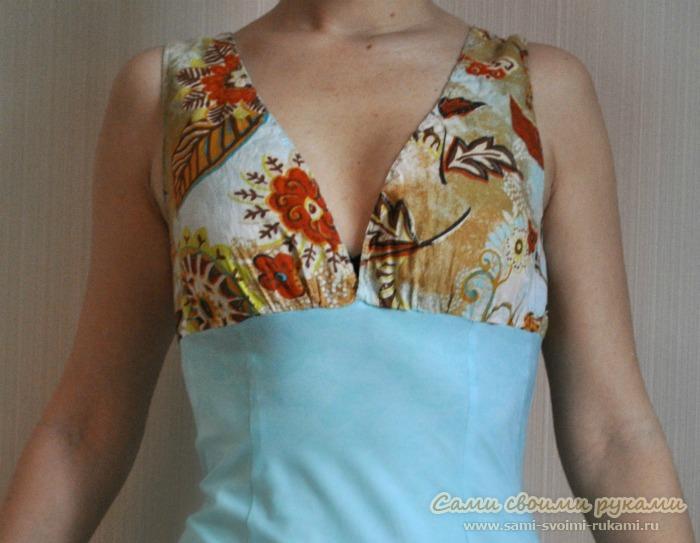 Как сшить летнее платье стрейч