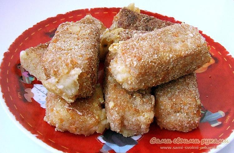 Сырные палочки с грецким орехом