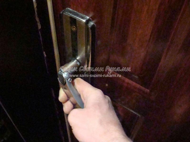 Замена ручки входной двери своими руками