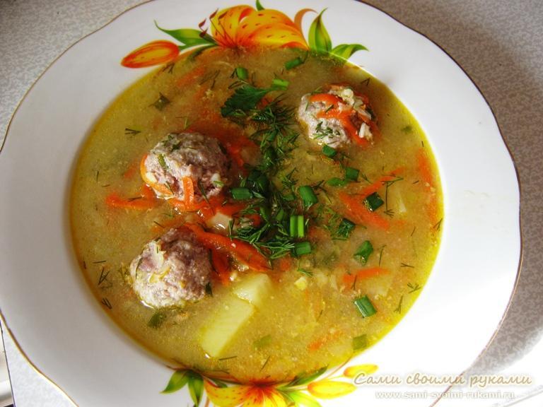 Как приготовить сырный суп с фрикадельками