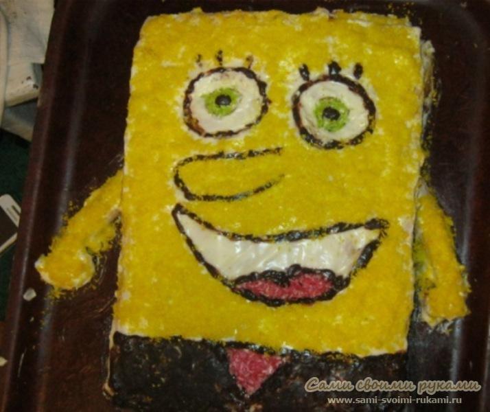 Торт Спанч Боб, как приготовить