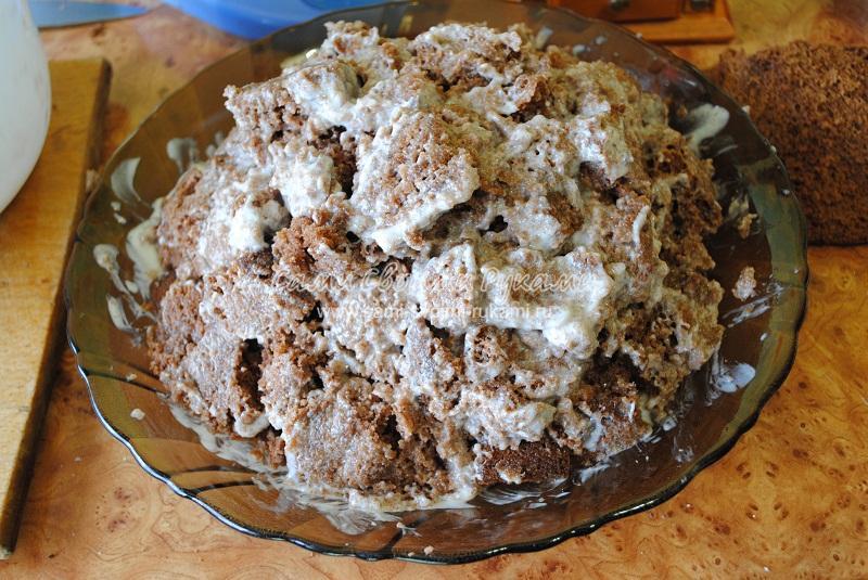 Торт графские развалины рецепт пошагово со сметаной