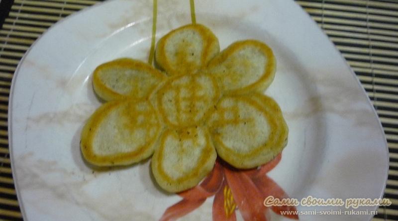 Фигурные оладьи, веселый рецепт с фото