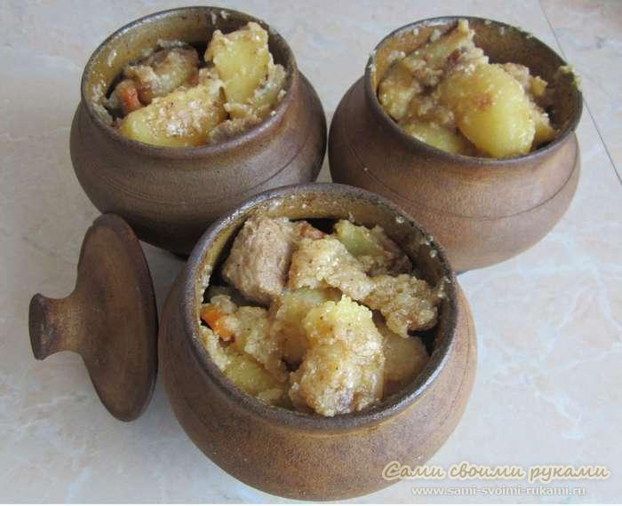 Тушеная картошка в горшочке - рецепт с черносливом, фото