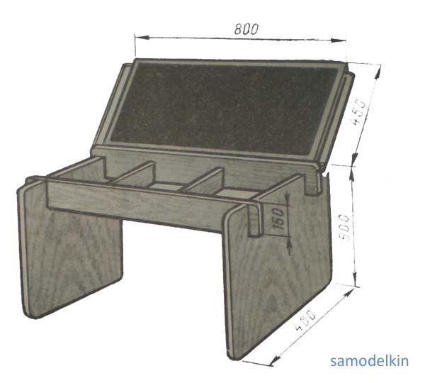 Ящик стола своими руками