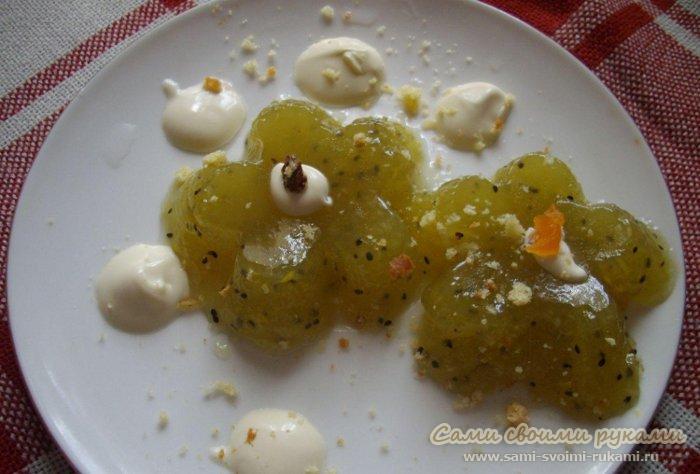 Десерт из киви, как приготовить - фото, рецепт